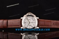 Panerai PAM251 Luminor Chrono Daylight 1:1 Steel Case Brown Leather Strap Asia 7753