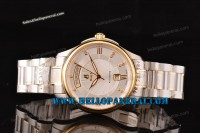 Ernest Borel Braque Collection Two Tone Case White Dial Swiss ETA 2824 Ref.GB7350W-2599