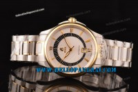 Ernest Borel Braque Collection Two Tone Case White Dial Swiss ETA 2824 Ref.GB7350-9521
