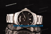 Ernest Borel Braque Collection Full Steel Black Dial Swiss ETA 2824 Ref.GS7350W-2590