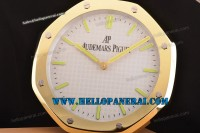 Audemars Piguet Royal Sytle Wall Clock Yellow Gold Case White Dial Swiss Quartz Ref.15202OR.OO.0944OR.01