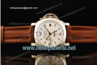 Panerai Luminor 1950 10 Days GMT SS White Dial Asia automatic