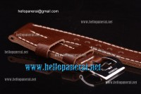 Panerai Hand Stitched Brown Leather Strap 2