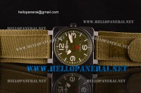 Bell & Ross BR03-92 Military Type PVD Case Army Green Dial A2813 Ref.BR03-92