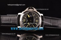 Panerai PAM244 Luminor GMT 1:1 Original Steel Case Black Dial A-7750-SHG-CHG