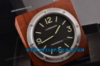 Panerai PAM255 Luminor Base Wall Clock SS Black Swiss ETA Quartz Ref.PAM 00255