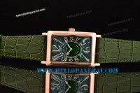 Franck Muller Long Island Rose Gold Case Green Dial Swiss Quartz Ref.1200SCREL