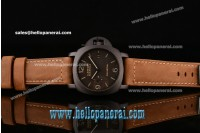 Panerai PAM00386 Luminor Marina 1950 3 Days Ti Brown Dial P.9000 Ref.PAM00386