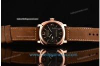 Panerai PAM 422 Luminor Marina RG Black Dial Asia 6497 Manual Winding