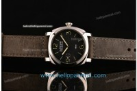 Panerai OP 6576 Luminor 1950 SS Black Dial Asia 6497 Manual Winding