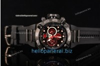 Invicta Subaqua Chrono PVD Black Lattice Dial SW Original Quartz Ref.6582R