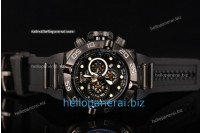 Invicta Subaqua Chrono PVD Black Lattice Dial SW Original Quartz Ref.6582W