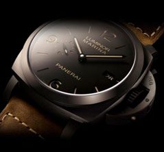 replica Panerai Luminor Marina watch with composite material